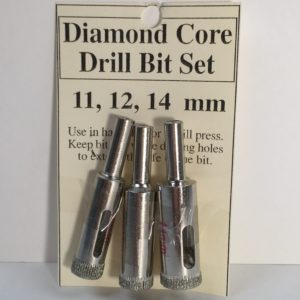 "7/16"" to 1/2"" Diamond Core Drill Bit 3 Piece Set (11 to 14 mm)"