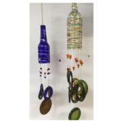 Our class will teach you to make this beautiful glass windchime.