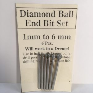 Diamond Ball End Bit Set 1-6 mm works with Dremel