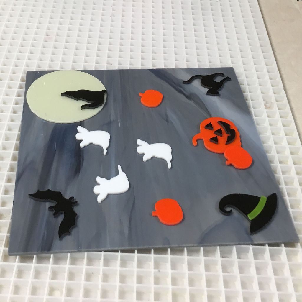 Fused tray student halloween project