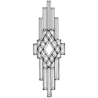 """MMS 7000 Clear Beveled Glass Cluster 7-1/4"""" x 26-3/8"""""""