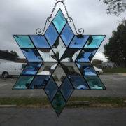 MMS 9000 Bevel Cluster Finished Stained Glass Project Panel