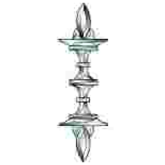 "TGC 116 Beveled Glass Cluster 8-1/2 "" x 26-3/4"""