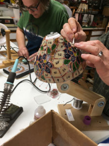 Stained glass lamp shade class