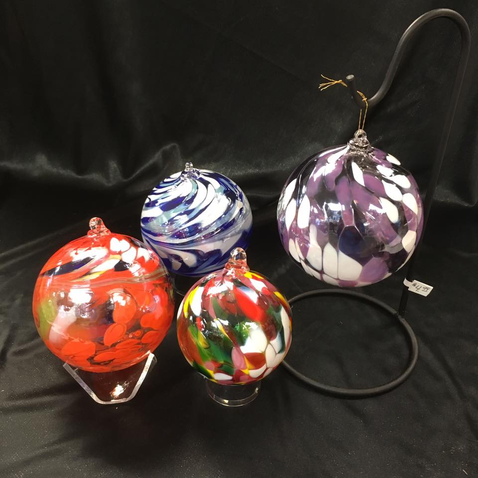 Blown glass Christmas ornaments