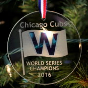 2016 Chicago Cubs World Series Champions W Commemorative Ornament