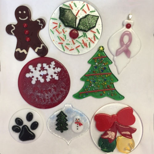 Fused Ornament Class Designs examples