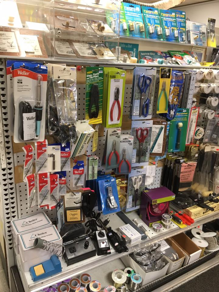 Large selection of the latest stained glass cutter and tools