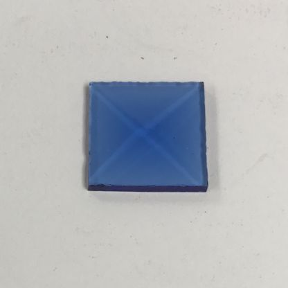 Blue square glass bevel 1 x 1