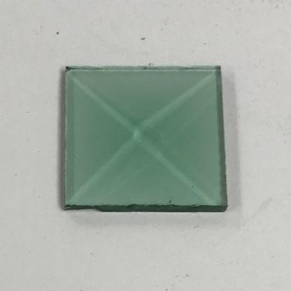 Green square glass bevel 1 x 1