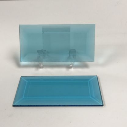 Turquoise rectangle glass bevel representative full