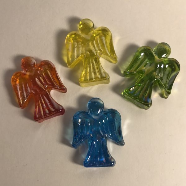 Mixed tiny glass angels