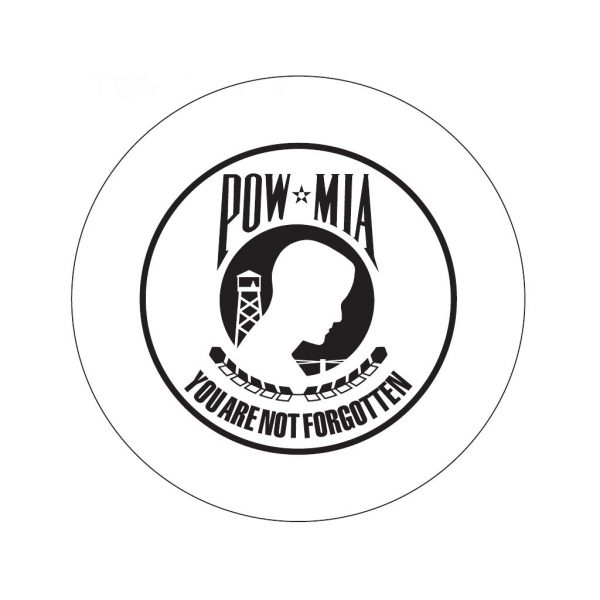 POW MIA etched military 6 inch glass bevel