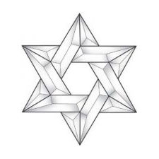 Star of David Glass Bevel Cluster