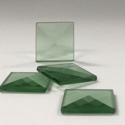 Square Colored Glass Bevel -3/4″ x 3/4″ Green