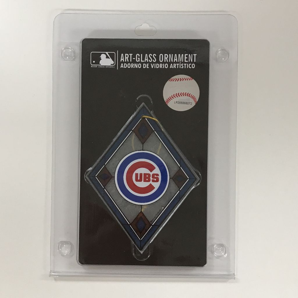 Chicago Cubs Christmas Ornament in package