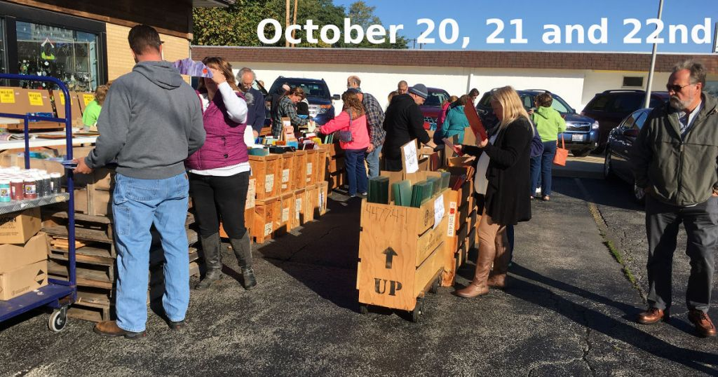The Glass House fall 2018 parking lot sale.