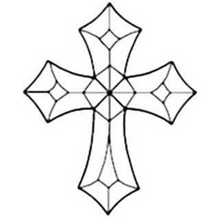Clear Beveled Glass Cross-14006